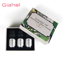 3pcs/set 10ml Plant Aromatherapy Essential Oils Aroma Oil Diffuser / Rose / Orange flower /Lavender Oil Natural Home Air Care