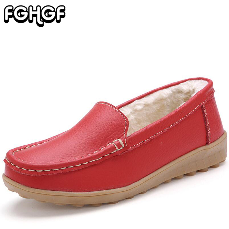 2018 Winter New women casual shoes Shallow flat platform sneakers nurse shoes slip on Plush warm Loafers creepers moccasins Y36 children shoes flat loafers shoes boy girl kids slip on shallow casual shoes non slip sneakers for little kid