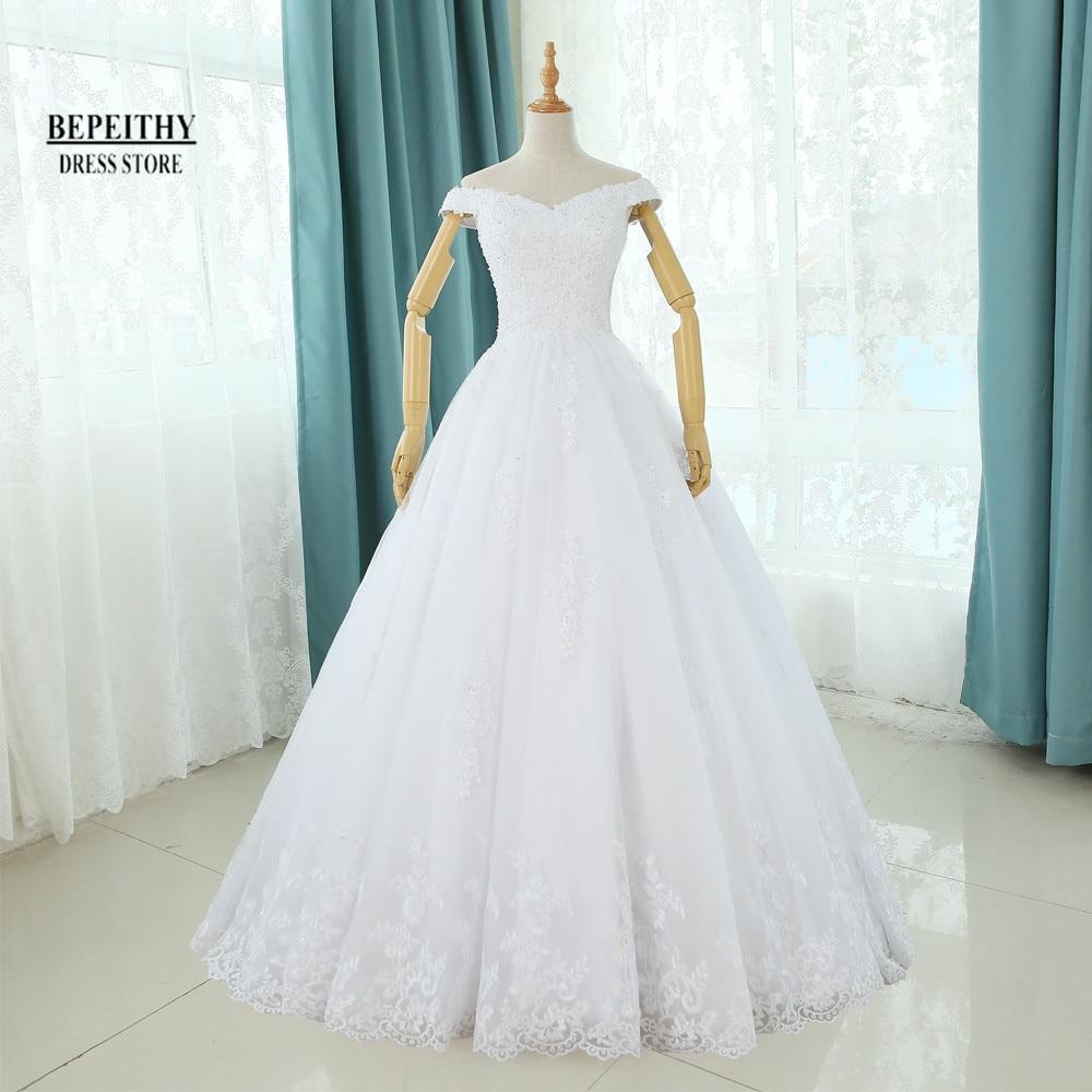 Īstas fotogrāfijas Vestido De Novia A-Line Kāzu kleitas Grīdas garums Pielāgoti lēti līgavas kleita Garš mežģīņu līgavas kleita Jauns dizains