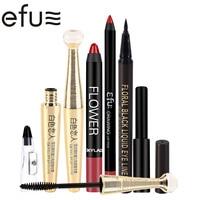 1Sets 5Pcs Makeup Set Lip Liner And Lipstick And Eyeliner And Mascara And Sharpener Brand EFU