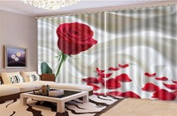 Blackout 3d Curtain Price Exquisite Silk Delicate Rose 3d HD Flower Curtain Custom Living Room Bedroom Beautifully Decorated Cur