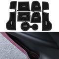 7Pcs/Set Car Styling Slot Pad Interior Door Groove Mat Latex Anti-Slip Cushion For Porsche Macan Car Internal Dedicated