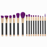 High Quality 15pcs Black Makeup Brushes Sets Foundation Powder Eyeshadow Mascara Lip Multifunction Blending Maquillage Brushes