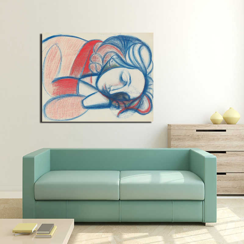 Pablo Picasso Sleeping Woman Canvas Painting Prints Living Room Home Decoration Modern Wall Art Oil Painting Posters Pictures HD