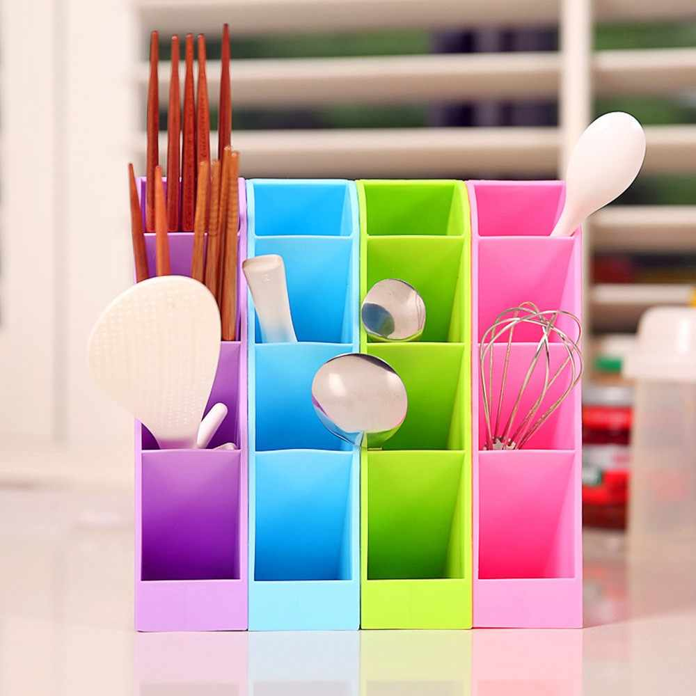 4 Cells Plastic Organizer Storage Box Tie Bra Socks Drawer Cosmetic Divider High Quality Housekeeping Container Organizers
