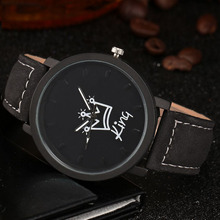 King Queen Leather Watches Women Lovers Quartz Watch Men Brand Luxury