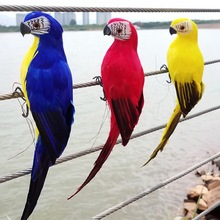 Garden Simulation Parrot Emulational For Show Window Gardening Decorative Bird Craftwork Decor Statues Sculptures