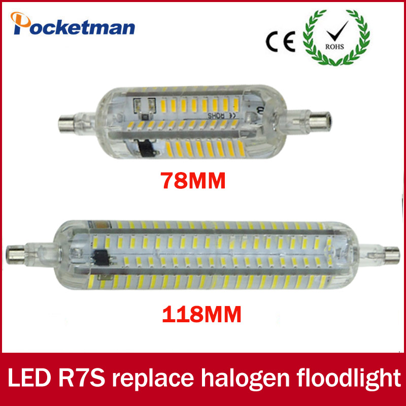 LED R7S 20W R7S j118 led 118mm 360 degree 10W 78mm LED bulb light lamp SMD4014 110V/220V replace halogen floodlight Silicone r7s led bulb 78mm 10w led corn bulb 118mm 20w ac 220v r7s 4014 smd silicone leds lamps replace halogen 60w 120w light
