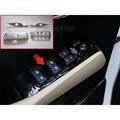 4 шт./компл. АБС-пластик  жемчуг  хромированный интерьер двери кнопки панель Крышка отделка для Toyota Alphard 2016 стайлинга автомобилей
