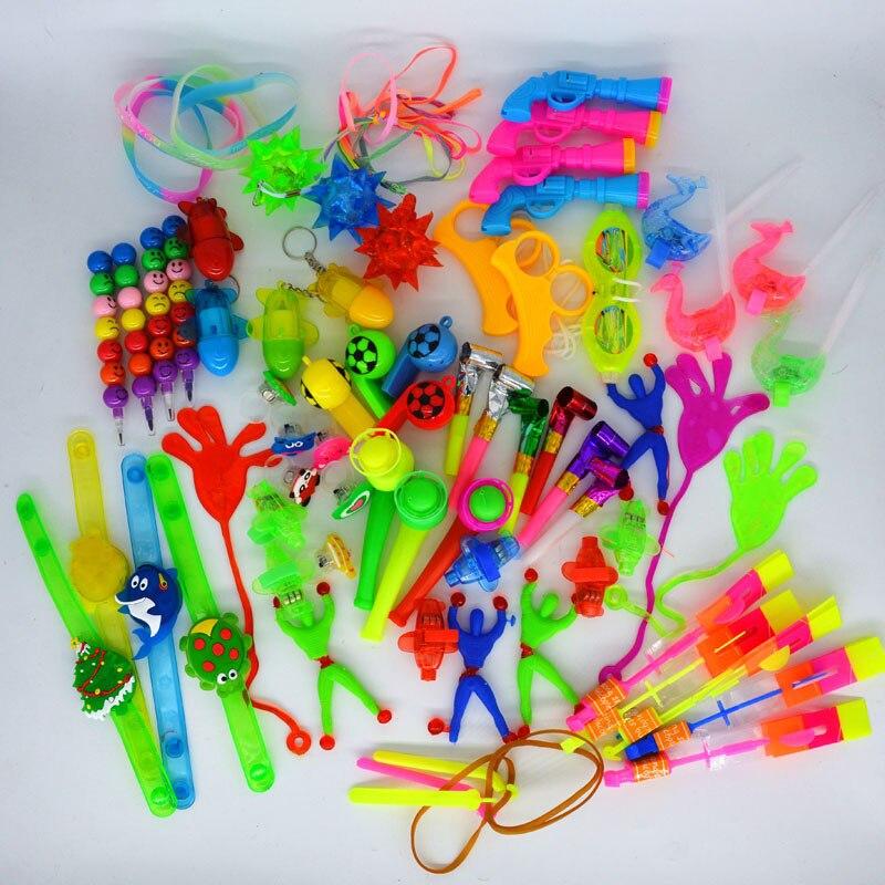 100 pièces Jouets pour Enfants accessoires de fête Fille Garçon sac à cadeaux Pinata Charges Enfants Carnaval Cadeaux Jouet De Noël Halloween