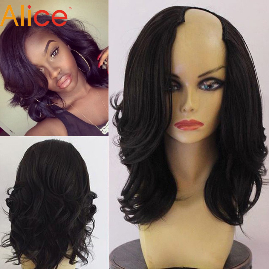 U Part Wig Bob Cut Human Hair Short Wigs For Black Women
