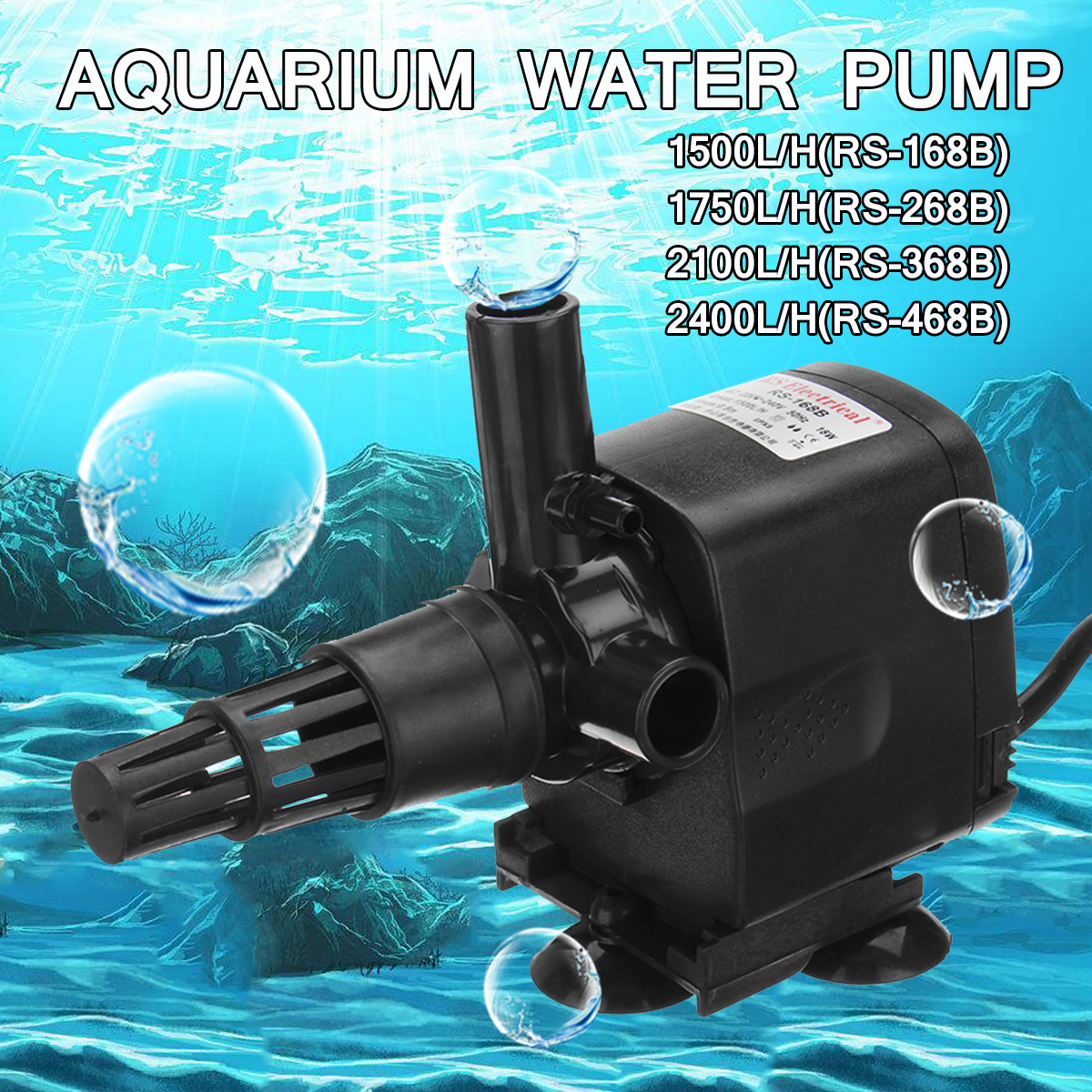 18/20/30/40W Mini Submersible Water Pump 220V Fish Pond Aquarium Tank Fountain Oxygen Air Compressor Aerator Air Flow Maker Pump bn44 00428b pd55b2 bhs good working tested
