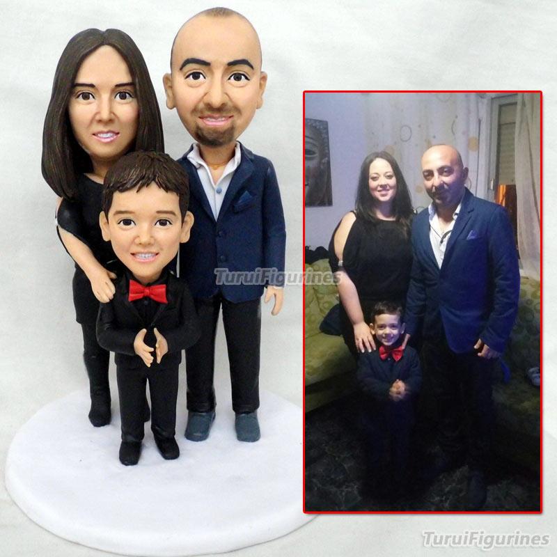 OOAK семейные подарки на заказ фигурка всех членов семьи персонализированные пользовательские сладкие Любовь Свадебный торт Топпер кукла по