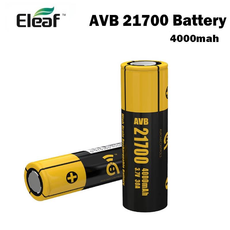 Original Eleaf Avatar AVB 21700 Battery 4000mah 30A Fit For Eleaf Istick Pico 21700 Box MOD Vape