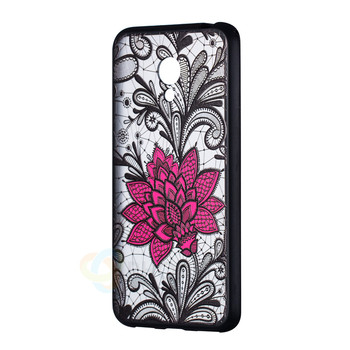 Embossed Lace Flower Phone Case For Meizu M3S Case Sexy Floral Hard Plastic+TPU Coque For Meizu M3S Back Cover