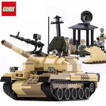 GUDI Military Building Blocks 372pcs War Weapon Armed T-62 Tanks model Bricks compatible Legoe blocks Toys for children Boys