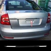 AX Rear Trunk Trim Tailgate Chrome Garnish For 2004 2011 2012 Skoda Octavia Sedan Back Door