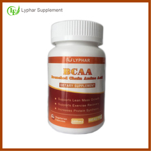 2016 hot sell diet supplements BCAA amino acid for sports nutrition training restoration 1 bottle 100 units capsules