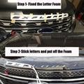 Рукоделие хромированный черный графитовый чехол с эмблемой и надписью  подходит для 2011-2017 Ford Explorer Sport gloss с фиксированной наклейкой