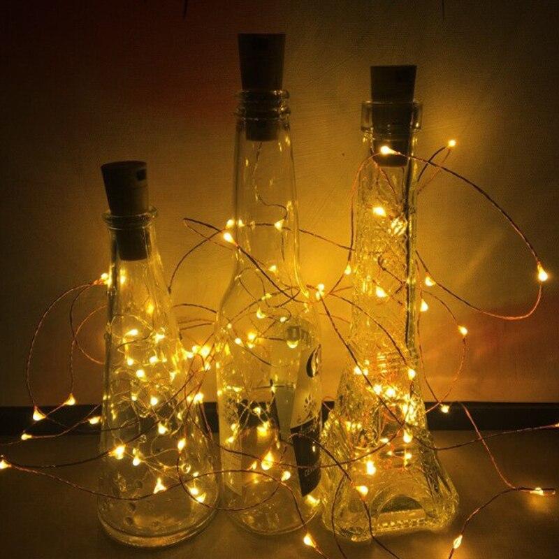 Solarlampen Akdsteel Led Girlande Kupfer Draht Corker String Fairy Lichter Für Glas Flasche Neue Jahr/weihnachten/valentines Hochzeit Dekoration Phantasie Farben Licht & Beleuchtung