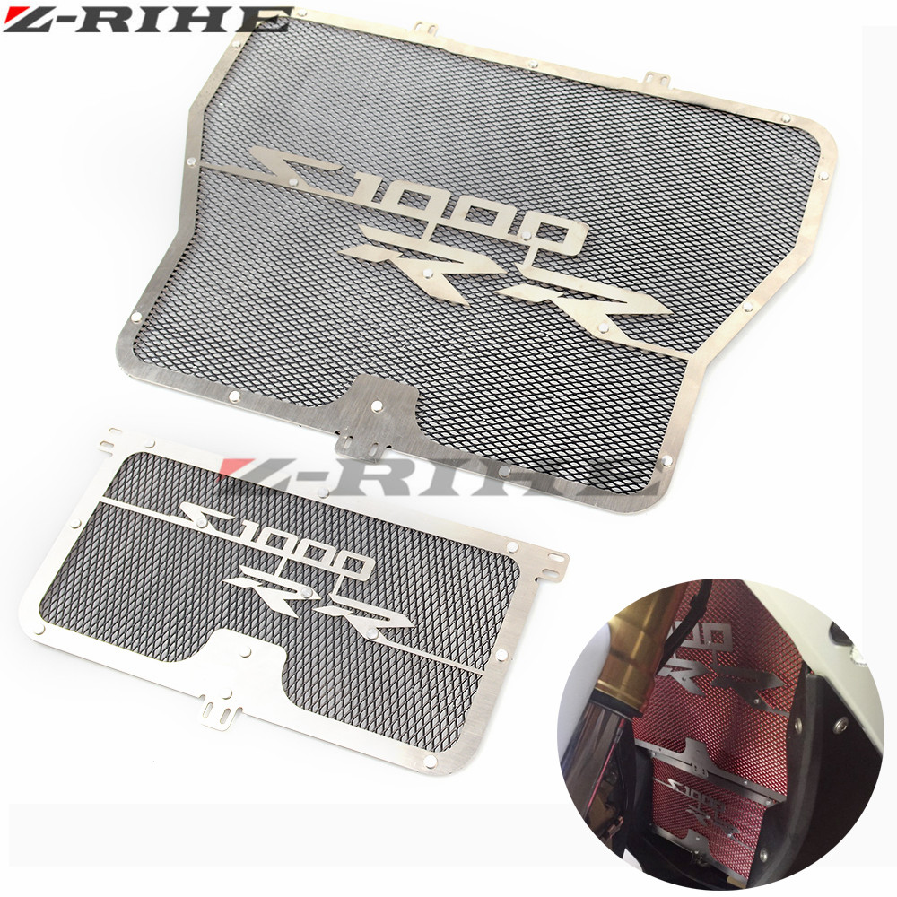 Radiator Grille + Oil Cooler Guard Cover Protection For 2009 2010 2011 2012 2013 2014 2015 BMW S1000RR S1000 RR ABS K46 motorcycle engine saver stator case guard cover slider protector for bmw s1000rr hp4 k42 k46 2009 2010 2011 2012 2013 2014 2015