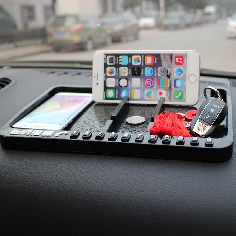 Multifunctional Car Anti-Slip <font><b>Mat</b></font> Dashboard Mount Sticky Pad Mobile <font><b>Phone</b></font> Stand <font><b>Holder</b></font> GPS Non-slip <font><b>Mat</b></font> for Glasses Key Coins