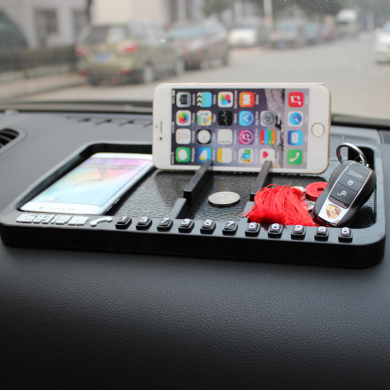 Multifunctional <font><b>Car</b></font> Anti-Slip Mat <font><b>Dashboard</b></font> Mount Sticky Pad Mobile <font><b>Phone</b></font> Stand <font><b>Holder</b></font> GPS Non-slip Mat for Glasses Key Coins