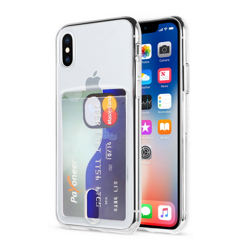 Transparent Soft TPU Card Holder Case for iPhone 11/11 Pro/11 Pro Max 25