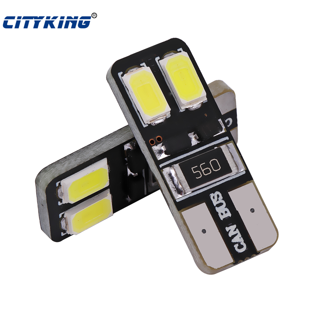 10 x LED White light T10 led W5W canbus Wedge t10 4SMD 5730 5630 led Light bulb CANBUS ERROR FREE Car clearance light