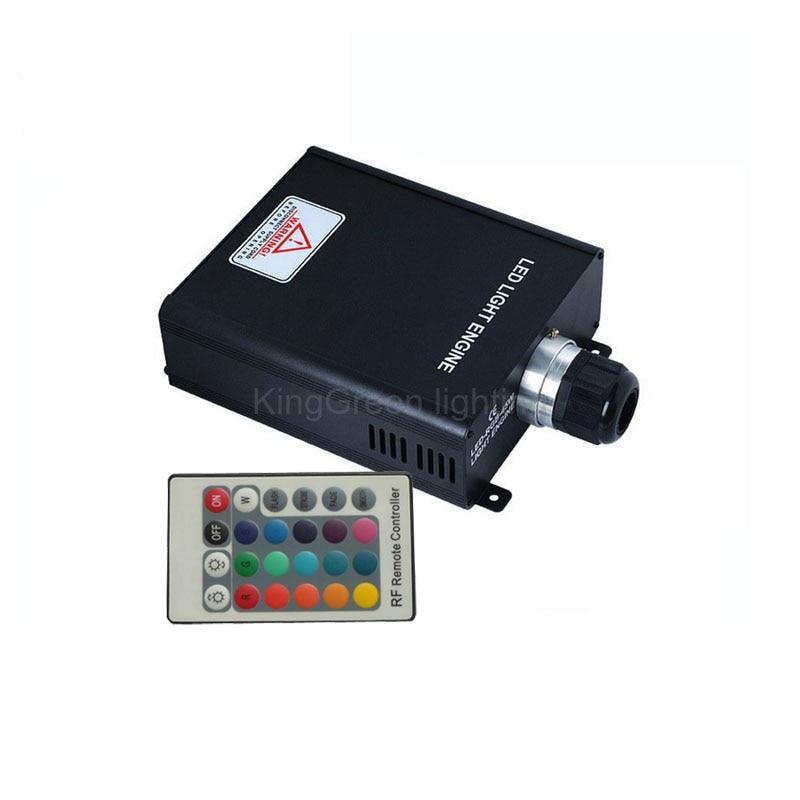 1X High quality 45W RGB color LED optical fiber light engine with 24key IR remote controller express free shipping