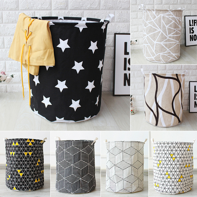 Art Cloth Folding Geometry Dirty Clothes Toys Storage Bucket Dirty Clothes Laundry Basket For Household Storage Basket