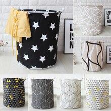 Tela de arte geometría plegable ropa sucia balde de almacenamiento de juguetes ropa sucia cesta de la colada para la cesta de almacenamiento del hogar