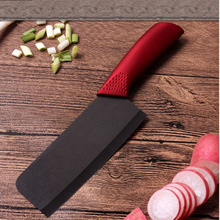 LD  ceramic knife 7 inch chef knife ABS + TPR handle fruit knife sharp kitchen knives purple color cooking tools beauty gift