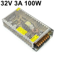 free ship 32V 3A 100W switching power supply AC110V 220V AC to DC regulated transformer Industrial LED power Driver dc32v