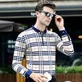 Высокое качество мужчины футболка-поло 2016 осень новый бренд поло мужчины С Длинным рукавом поло homme Бизнес случайные удобные твердые поло рубашка
