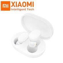 Оригинальные наушники Xiaomi AirDots TWS Bluetooth 5,0, беспроводные наушники-вкладыши, гарнитура с микрофоном и зарядным док-станком, Молодежная версия