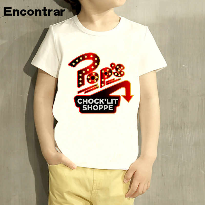 Kids south side serpents Printed T Shirt Boys/Girls Short Sleeve Tops Children's Summer White Riverdale T-Shirt, ooo1742