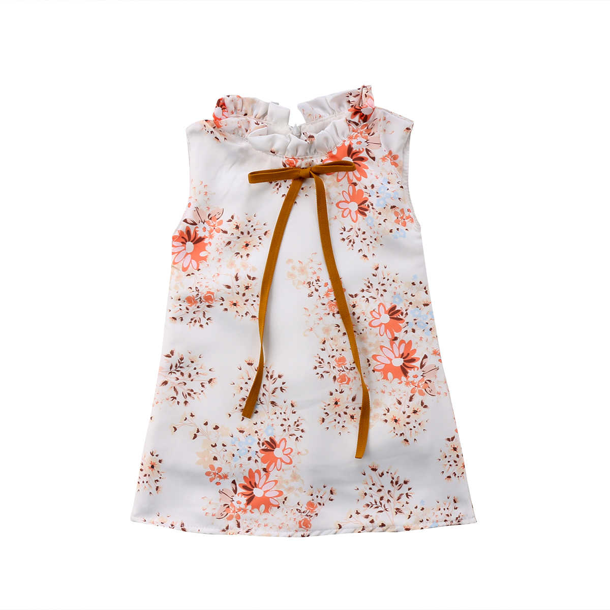 8d41aed70 Girls Summer Dress Baby Girl Clothes vintage 2018 Brand Children flowers  Princess Clothing Baby Dresses for