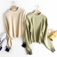 Winter Women Sweaters Warm Pullover and Jumpers Crewneck Mohair Pullover Twist Pull Jumpers Autumn Knitted Sweaters Christmas