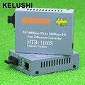 KELUSHI HT-1100S Трансивер Волоконно-Оптических Media Converter Конвертер 25 км SC 10/100 М Одномодовых Одиночное Волокно быстрая доставка