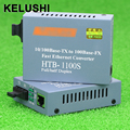 KELUSHI HT-1100S Optical Fiber Media Converter Transceiver Converter 25km SC 10/100M Singlemode Single Fiber fast shipping