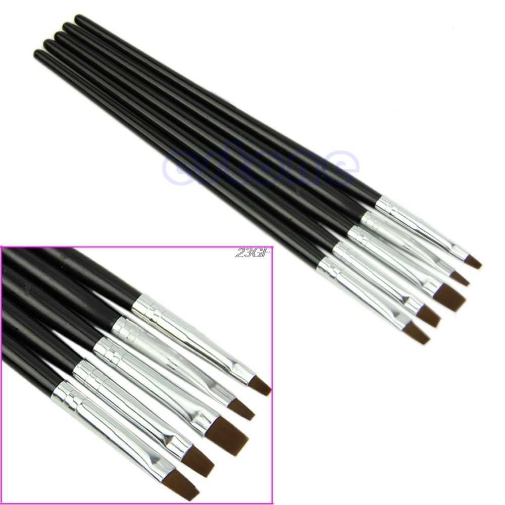 5 шт плоский дизайн ногтей акриловый УФ-гель для салона Ручка для рисования Раскрашивание ногтей набор инструментов кистей маникюрные инструменты