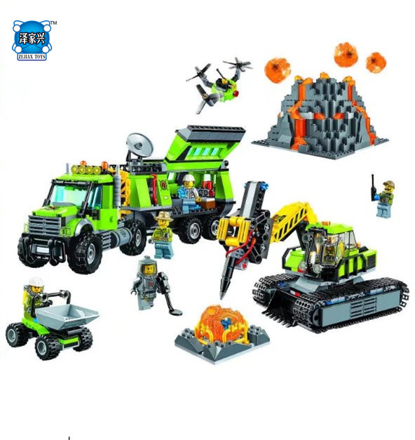 Bela City Series Volcano Exploration Base Geological Prospecting Building Block Bricks Toys Gift for Children Compatible Legoing lepin 02005 volcano exploration base building bricks toys for children game model car gift compatible with decool 60124