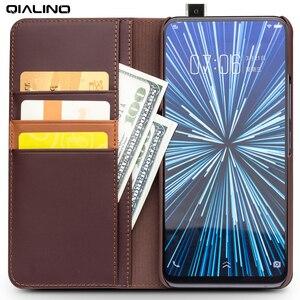 Image 5 - QIALINO אמיתי אמיתי עור אופנתי Flip Case עבור Vivo NEX עסקים בעבודת יד יוקרה כיסוי עם כרטיס חריצים עבור NEX 6.59 inch