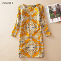 Aliexpress  fashion Hot style summer dress Europe and the United States Classic printing spring long sleeve big yards dress