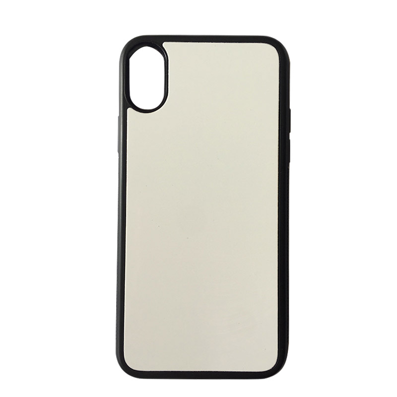 sale retailer 505c2 be52b US $125.1 10% OFF|Coque For iPhone X Rubber Case 2D Sublimation DIY Soft  Silicone TPU Blank Phone Housing For iX With Plate Funda For iPhoneX-in ...
