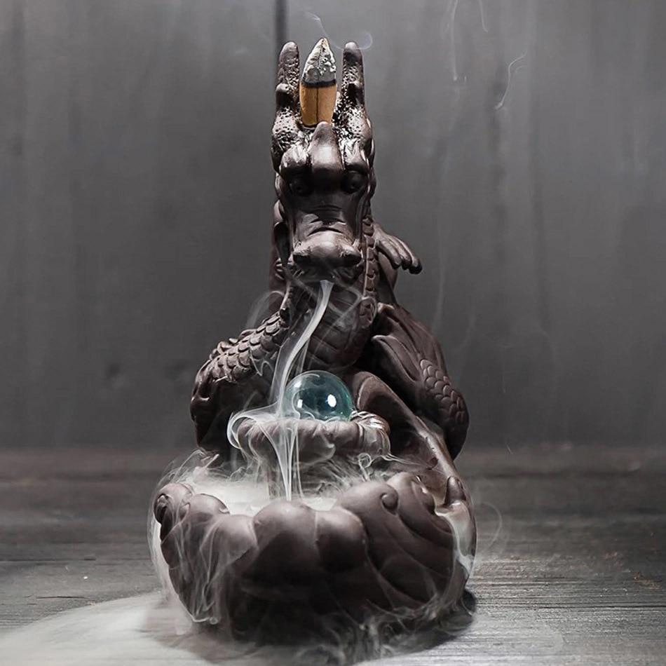 Crystal Dragon Incense Burner w/ Cones