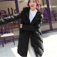 Женщины куртка толщиной 2016 ватные куртки женщины зимняя куртка женская верхняя одежда тонкий куртки средней длины хлопок парки пальто