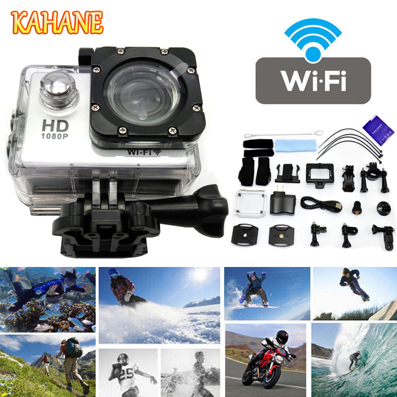 KAHANE SJ4000 Full HD 1080P WIFI Wireless 30M Waterproof Sport DV Video Action Camera FOR Audi BMW Mercedes VW Nissan Hyundai car auto accessories rear trunk trim tail door trim for subaru xv 2009 2010 2011 2012 2013 2014 abs chrome 1pc per set