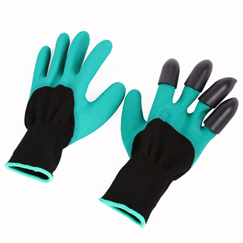 1 Pair/set Garden Gloves 4 ABS Plastic Genie Rubber With Claws Quick Easy to Dig and Plant For Digging Planting